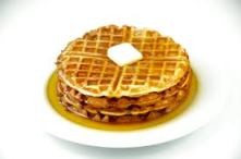 A waffle ain't nothin' but a pancake with potholes.